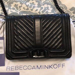 Rebecca Minkoff Chevron Small Love Crossbody bag